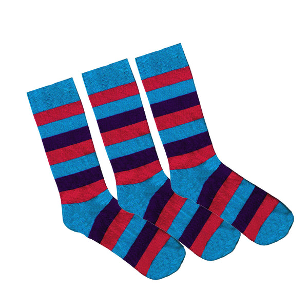 95% Bamboo Stripe Sock - 3 Pack