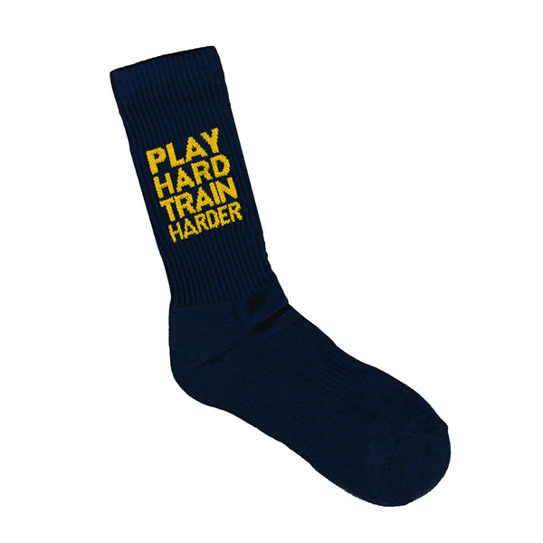 Sports Crew Sock - Play Hard Train Harder