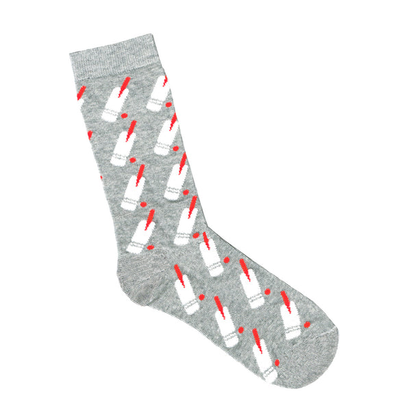 Grey Socks with Cricket Bats | Fathers Day Socks | Shop Online LAFITTE Australia