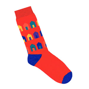 Red Beach Hut Print Socks | Shop Online | LAFITTE Australia