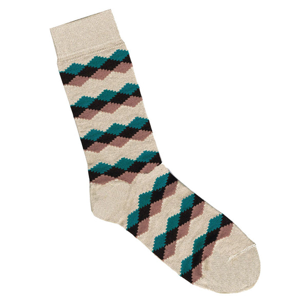Bamboo Diamond Print Socks | Shop Online LAFITTE Australia