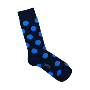 Patterned Bamboo Socks | Navy Blue Spots | LAFITTE Australia Shop Online