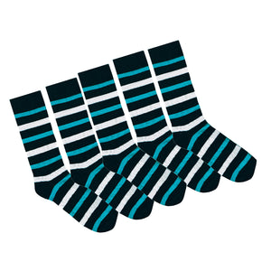 95% Bamboo Stripe Sock - 5 Pack Seconds Special