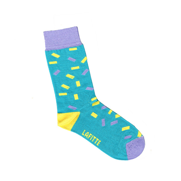 Confetti Print Kids Socks | Green Purple and Yellow | Shop Online LAFITTE Australia