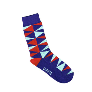 Triangle Print Kids Socks - Purple, Red and Blue | Shop Online | LAFITTE Australia
