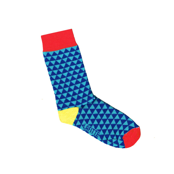 Childrens Socks with Small Triangle Print | Shop Online | LAFITTE Australia