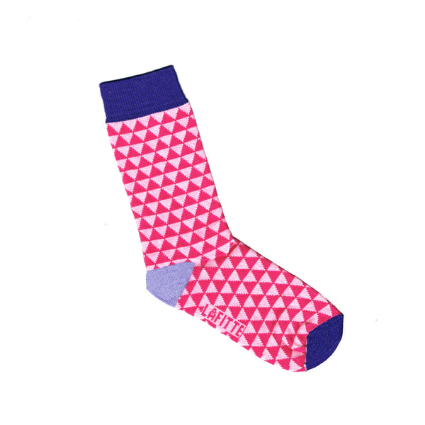 Pink Children's Socks with Small Triangle Print | Shop Online | LAFITTE Australia