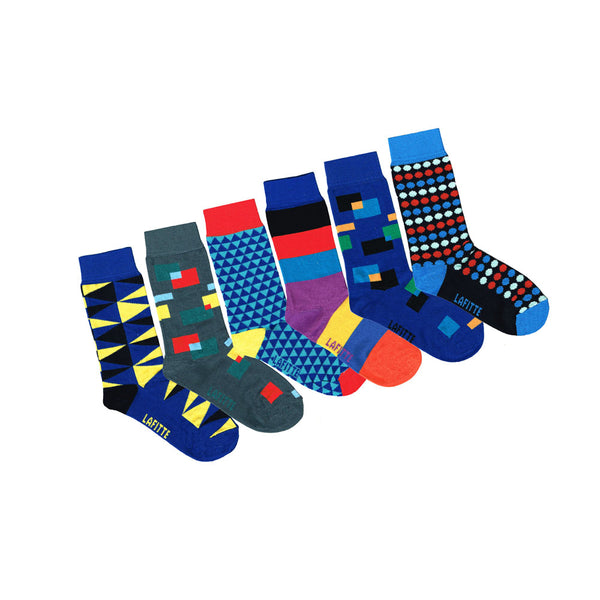6 Pack - Boy's Patterned Socks | Shop Online LA FITTE Australia