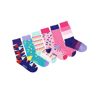 Pattern Sock - Girl's 6 Pack Special