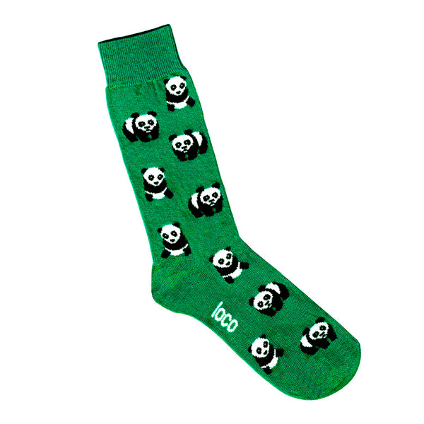 Panda Socks - Green | Shop Online | LAFITTE Australia