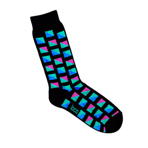 Coloured Squares Sock