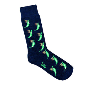 Navy blue gumnnut socks | Shop Online | LAFITTE Australia