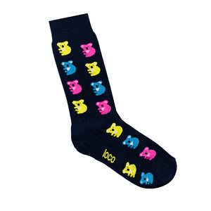 Koala Socks - Navy | Shop Online | LAFITTE Australia