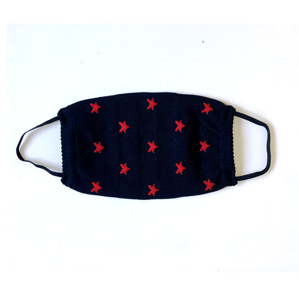 2 PACK Reusable Face Mask - Red Stars