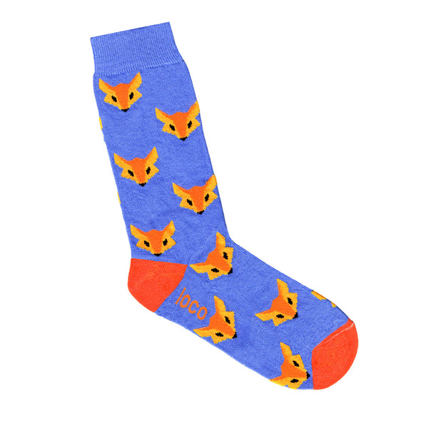 Fox Socks - Blue | Shop Online | LAFITTE Australia