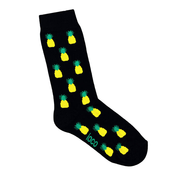 Pineapple Socks - Black | Shop Online | LAFITTE Australia