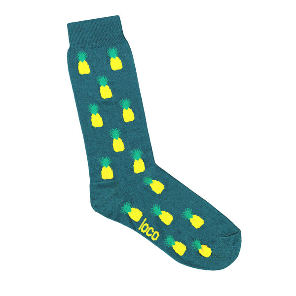 Pineapple Socks - Green | Shop Online | LAFITTE Australia
