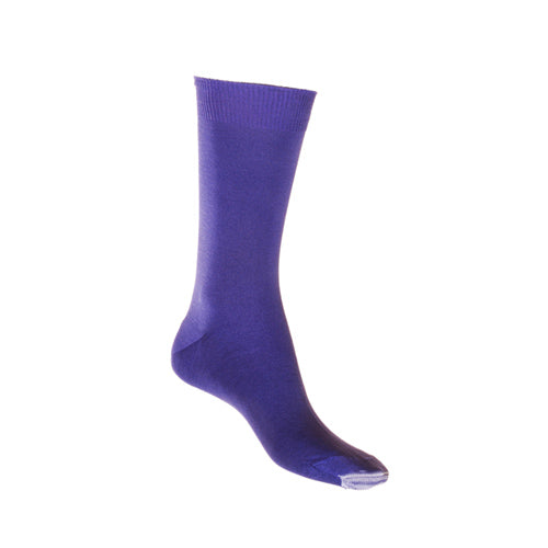 Purple Mercerised Cotton Sock with Tough Toe™