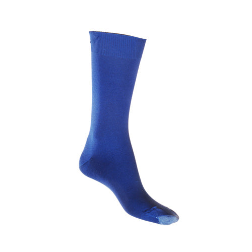 Royal Blue Mercerised Cotton Sock with Tough Toe™