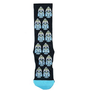 Black Bunny Print Socks | Black with Blue Toe | Shop Online LAFITTE Australia