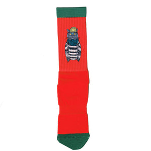 Red Socks with Cat Print Mens and Womens Socks Online | LAFITTE Australia