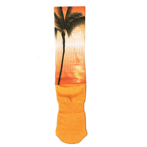 Palm Tree Print Sock