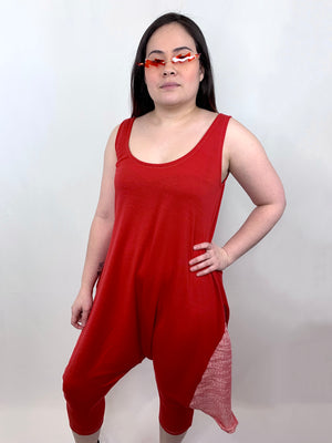 Red Harem Jumpsuit • Size S/M