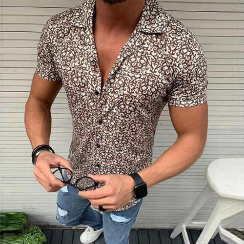 Men's Fashion Floral Short Sleeve Shirts