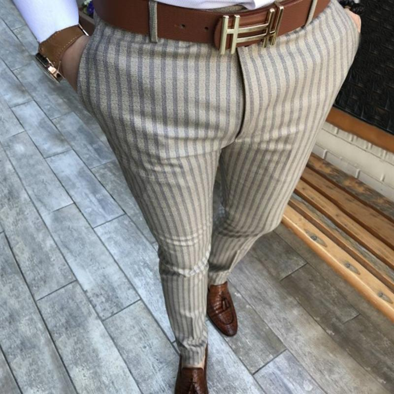 Men's Plaid Casual Pants