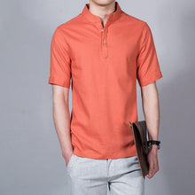 Load image into Gallery viewer, Mens Linen Shirts 7 Colors