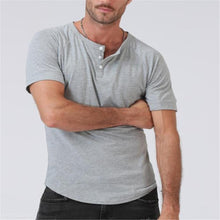 Load image into Gallery viewer, Fashion Youth Casual Plain V Button Collar Short Sleeve Top