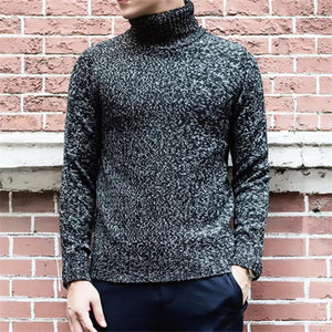 Fashion Youth Casual Sport Thermal High Collar Long Sleeve Sweater