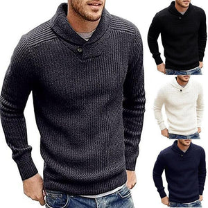 Casual Mens  Winter Plain Knit Sweater