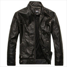 Load image into Gallery viewer, Men Plus Size High Quality Motorcycle Classic Leather Jacket