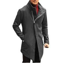 Load image into Gallery viewer, Fashion Mens Solid Color Stand Collar Outerwear