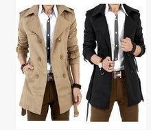 Load image into Gallery viewer, Fashion Lapel Collar Plain Button Jacket Long Coat