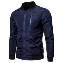 Load image into Gallery viewer, Fashion Lapel Collar Plain Baseball Jacket Coat
