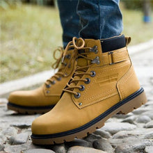 Load image into Gallery viewer, Casual Fashion Outdoor Solid Color High Tube Leather Men Boot Shoes