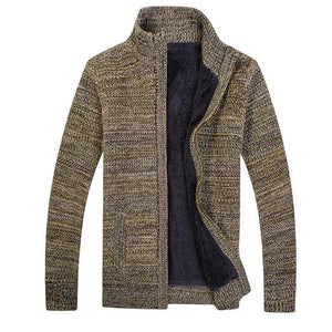 Men's Knitted Collar Sweater Coat