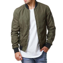 Load image into Gallery viewer, Leisure Street Solid Color Men's Jacket