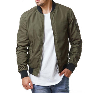 Leisure Street Solid Color Men's Jacket