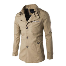 Load image into Gallery viewer, Casual Fashion All-Match Plain Slim Wide Lapel Wind Coat