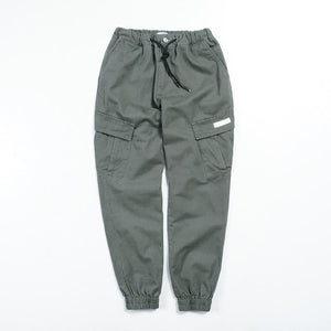 Fashion Plain Loose Multiple Packets Jogger Pants