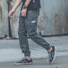 Load image into Gallery viewer, Fashion Plain Loose Multiple Packets Jogger Pants