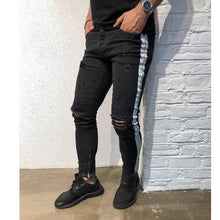 Load image into Gallery viewer, Tight-Fashioned Solid Color Denim Trend Men's Feet Pants