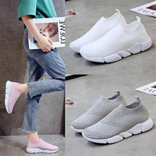 Load image into Gallery viewer, Casual Breathable Plain Mesh Cloth Soft Sneakers