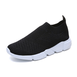 Casual Breathable Plain Mesh Cloth Soft Sneakers
