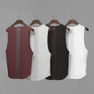Casual Round Collar Split Joint Plain Loose Vest