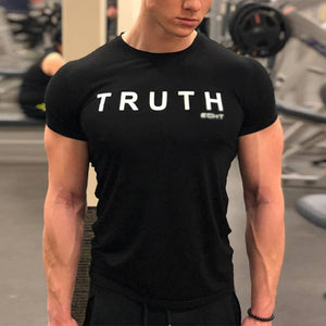 Summer   Men's Fitness Short Sleeve T-Shirt