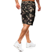 Load image into Gallery viewer, Men's Fashion Tie Belt Camouflage Casual Shorts